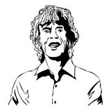 jagger mick Vektorillustration av Mick Jagger royaltyfri illustrationer