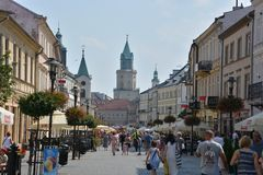 The Jagiellonian Fair 2015. This is a view of the Jagiellonian Fair in Lublin. August 15, 2015. Lublin, Poland Stock Images