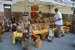 The Jagiellonian Fair 2015. This is a view of the Jagiellonian Fair in Lublin. August 15, 2015. Lublin, Poland Stock Photography