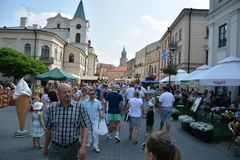 The Jagiellonian Fair 2015. This is a view of the Jagiellonian Fair in Lublin. August 15, 2015. Lublin, Poland Stock Photo