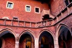Jagiellonski University. Medieval Jagiellonian University, Collegium Maius, Krakow, Poland Stock Photos