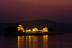 Jagmandir palace at night Royalty Free Stock Image