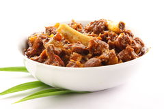 Jagnięcego curry'ego naczynie od Indiańskiej kuchni, Obraz Stock