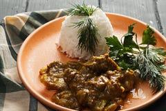 Jagnięcego curry'ego zbliżenie Obraz Stock