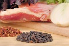 jagnięcy mięsny surowy fotografia stock