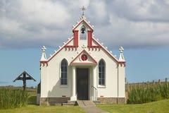 Jagnięca Holm kaplicy fasada w Orkney scotland UK Obraz Stock