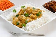 Jagnięcy curry i boczni naczynia Obrazy Royalty Free