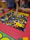 Jago. Play, lego, fun, siblings, builf, build, create, building, mall royalty free stock photo