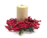 jagod świeczki złocista czerwień otaczająca fotografia royalty free