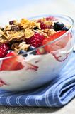 jagod granola jogurt Fotografia Royalty Free