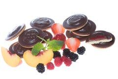 jagod tortów świeża brzoskwinia zdjęcie stock
