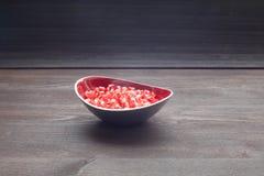 Jagoda granatowiec w talerzu Obraz Royalty Free