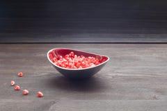 Jagoda granatowiec w talerzu Obraz Stock