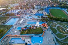 Free Jagodina City From Aerial Drone View, Serbia Stock Photography - 216854182