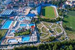 Free Jagodina City From Aerial Drone View, Serbia Stock Images - 216854254