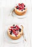 Jagodowy cheesecake Zdjęcie Stock