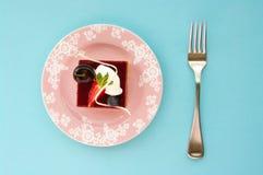 jagodowy cheesecake mieszający plasterek Zdjęcia Stock