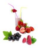 jagodowy jogurt Zdjęcia Stock