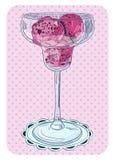 Jagodowy lody ilustracji