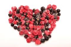 jagodowy serce Fotografia Royalty Free