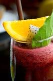 Jagodowy smoothie i cytryna Obraz Stock