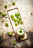Jagodowy smoothie robić od zielonych agrestów Obrazy Royalty Free