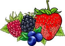 Jagodowych owoc kreskówki ilustracja Fotografia Royalty Free