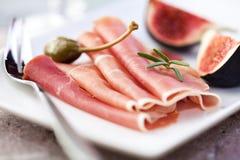 jagody brykają fig jamon serrano Obrazy Royalty Free