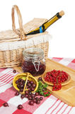 jagody czerwony rodzynek na stole Obrazy Stock