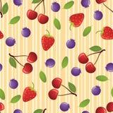 jagody deseniują bezszwowego Zdjęcia Stock