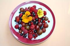 jagody śniadanie Zdjęcia Royalty Free