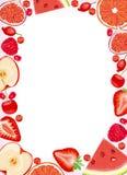 jagody obramiają owoc czerwone Fotografia Stock
