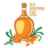 jagody rozgałęziają się buckthorn kropli oleju morze stylizującego Fotografia Royalty Free