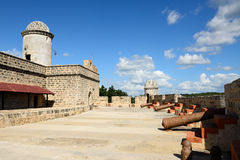 Jagua fort by the Cienfuegos city on Cuba Royalty Free Stock Photo