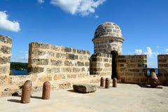 Jagua fort Cienfuegos miastem na Kuba Obraz Royalty Free