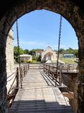 Jagua kasztelu drawbridge Fotografia Stock
