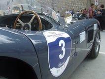 Jaguar Bieżnego samochodu rocznik, klasyk obrazy royalty free