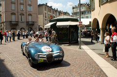 Jaguar C-Type at Mille Miglia 2015 Royalty Free Stock Image