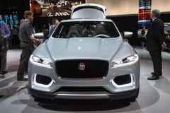 Jaguar C-X17 SUV Concept car on display at the LA Auto Show. Stock Photos