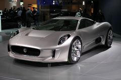 The Jaguar C-X75 Concept Royalty Free Stock Photos