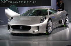 Jaguar C-X75 Concept at Paris Motor Show Stock Image