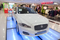 jaguar car in  shopping mall Royalty Free Stock Image