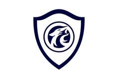 Jaguar concept guard shield logo icon vector illustration