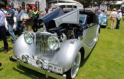 Jaguar convertibele 1948 stock foto's