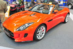 Jaguar convertible car - Bucharest Auto Saloon 2014 Stock Photo