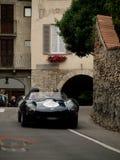 Jaguar D-typ på Bergamo den historiska granda prixen 2015 Arkivbilder