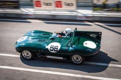 Jaguar D-typ tävlings- bil Royaltyfri Foto