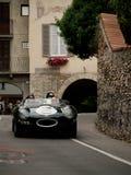 Jaguar-D-Type bij de Historische Grand Prix 2015 van Bergamo Stock Afbeeldingen