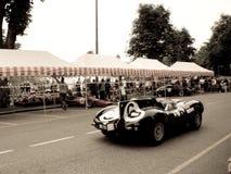 Jaguar-D-Type bij de Historische Grand Prix 2015 van Bergamo Royalty-vrije Stock Foto's