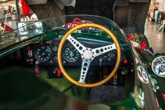 Jaguar-D-Type cockpit Royalty-vrije Stock Foto